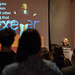 Former TEDxExeter Speaker, Gill Hayes, speaking at the TEDxExeter 2018 launch event at Royal Albert Memorial Museum