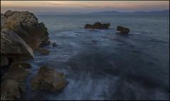 El vértigo del mar. (antoniocamero21) Tags: mar agua rocas amanecer cielo color foto sony paisaje marina lescala girona catalunya acantilado