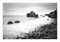 milky sea 2 (ddaugenblick) Tags: ostsee baltic sea dars weststrand bunker sw bw steine wasser meer himmel landschaft natur