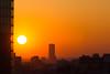 Montparnasse Sunset from Montreuil (julienbraco) Tags: sunset sun orange montparnasse paris montreuil dusk contrast tower skyscraper