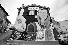 Sant'Angelo di Roccalvecce (Claudia Celli Simi) Tags: bw bn biancoenero blackandwhite contrasto monocromo monocrhome tinaloiodice artista murale artedistrada arteurbana urbanart artesuimuri santangelodiroccalvecce viterbo lazio italia provincia