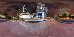 Bowman Building, Alice Lane Sandton 360° (Paul Saad) Tags: 360° sandton bowmans longexposure nikon fisheye alicelane spherical night lights colors
