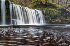 Upper Gushing Falls (Wizmatt) Tags: upper gushing falls sgwd ddwli uchaf river neath ystradfelte brecon beacons national park wales britain long exposure cokin filters canon 70d sigma 1770mm woodland stream autumn green yellow october