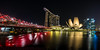 Singapore (Piotr_PopUp) Tags: singapore marinabaysands marina artsciencemuseum helixbridge asia bridge water reflection city cityscape urban longexposure slowshutter night nightlights nightshot dark waterfront buildings building architecture samyang 14mm