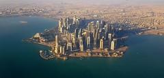 Doha (dorinser) Tags: doha qatar aerialview aerial city arabic asia