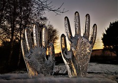 Frozen Fingers lol!..x (Lisa@Lethen) Tags: frozen hands rubber gloves water winter cold just for fun morning sunrise 3