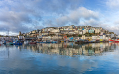 Brixham (Rich Walker75) Tags: brixham devon landscape landscapes landscapephotography village seaside fishing port harbour coast sky cloud clouds reflection pano panorama england efs1585mmisusm eos100d eos canon