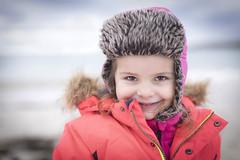 5V6A9740_red (Eivind Nielsen) Tags: daughter girl smile winter beach snow cold ocean karmøy åkrasand sand