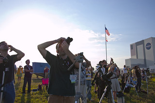 STS-133 Launch - Press Site Perspective