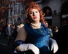 (XBeauPhoto) Tags: feb2018candid lgbt london candid citylife costume crossdresser drag fujix100f procession streetphoto streetphotography theatre transvestite urban