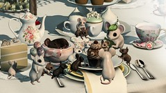 Mouse Party (Aleriah.) Tags: sweet meese plastik the arcade apple fall erratic zerkalo house party mouse mice balloons tea teacup
