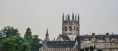Dreamy Spires (-MikeBakker-) Tags: oxford oxfordshire england unitedkingdom uk greatbritain britain europe travel traveling traveler travelling traveller wanderlust explore exploring exploration discover discovery discovering architecture british english heritage building buildings street streets streetphotography nikon nikond3100 d3100 dslr camera 1855mm lens perspective angle composition view college university universityofoxford spire spires grey sky evening tower towers skyline cityscape colourful colours colour color colorful colors