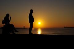 sunset (HiROaK SaNEyoCiy) Tags: portugul porto sunset siluet sky people sea ocean europe euro pentax k3ⅱ 2017 1685