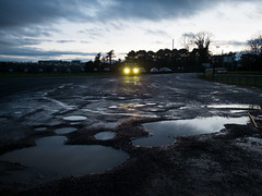 Wexford (Stoneybutter) Tags: wexford headlights rain puddles