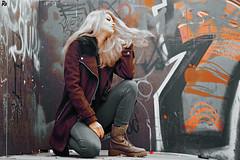 Sara 2 @БЛОЖИЌ#5 (Robert Krstevski) Tags: robertkrstevskiblogspotcom robertkrstevski photography photooftheday photograph photo photographer girl woman fashion style grafitti jeans clothes coat hair photoshoot pose macedonia skopje balkan europe street urban color colors filter peoplephotography nikond3300 nikon portrait