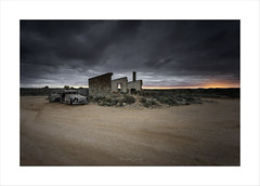 Gone Surfing (Maxwell Campbell) Tags: silverton australia outback mining silver sunset brokenhill house ruin car wreck landscape nsw