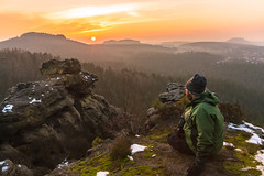 Beautiful Saxon Switzerland (redfurwolf) Tags: saxonswitzerland germany saxony nationalpark nature outdoor hiking sunset mountains landscape selfie person clouds sky awesome beautiful epic redfurwolf sonyalpha a99ii sony sonydeutschland rock trees forest haze sal2470f28za
