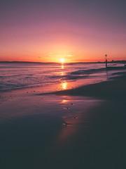 bournemouth sunset (Matt Northam) Tags: beach coast dorset dusk sand southbourne sunset water waves x20