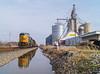 CSX Q561 Tiffin, OH (Nolan Majcher) Tags: csx csxt q561 tiffin ohio oh willard sub emd sd60i 8724 grain elevator complex silos