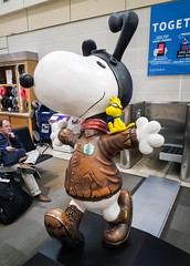 (2018-02-13) Sprint Headquarters trip-12 (Swallia23) Tags: delta flight msptomci minneapolisstpaul kansascity airport winter snow missouri river ice snoopy woodstock statue