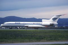 Kras Air TU-154M RA-85720 BCN 04/01/2003 (jordi757) Tags: airplanes avions nikon f90x kodachrome kodachrome64 bcn lebl barcelona elprat tupolev tu154 krasair ra85720