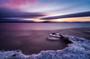 Burlington Sunset, Feb 2018 (Dino Sokocevic) Tags: sunset february vermont vt newengland 20mm ultrawide 10stop nd10 longexposure nikon d610 mefoto landscape winter purple smooth
