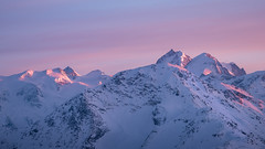 Bernina Range, Switzerland (Nils Leonhardt) Tags: schnee snow mountain berg landschaft landscape sunset himmel sky switzerland engadin bernina nikon nikond810 nikkor70200mm winter light