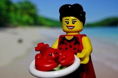 Delicacies from the sea presented by María Mercedés Álvarez Sánchez (y20frank) Tags: lego minifigure cuba caribbean karibik kuba ocean sea meer seafood meeresfrüchte lobster hummer essen maríamercedésálvarezsánchez clubtropicana