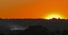 Distant Fires (Deepgreen2009) Tags: west orange glow light brilliant horizon hills church spire