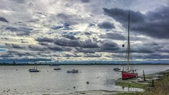 Storm clouds gathering (Just landscapes) Tags: paysage scenery scenic coastline weather cloudy stormy clouds stormclouds tidal sailing boat boats water riverblackwater essex heybridgebasin england uk landscape sailingboat river estuary iphone7 iphone