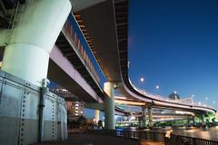 Tokyo Expressway. (Akira.Tagawa_JPN)) Tags: akira tagawa tokyo express way shutoko night curve view japan sky アキラ タガワ 首都高 東京 夜 両国 ryogoku junction ジャンクション 夜景