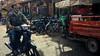La ciudad de la motos (jfraile (OFF/ON slowly)) Tags: motos triciclos calle contraluz rojo verde fotocallejera marrakech marruecos motorcycles tricycles street backlight red green streetphoto morocco