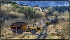 Cross Roads (Welsh Gold) Tags: 66115 6o08 swansea burrows onlwyn coal train gwaen cae gurwen open cast mine dulais valley southwales