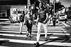 Adilette (TS_1000) Tags: 28mm summilux q leica adidas klassiker adiletten adilette streetphotography street newyork newyorkcity harlem zebra bnw sw xing blackandwhitephotography 125st