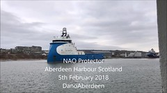 NAO Protector - Aberdeen Harbour Scotland - 5/2/2018 (DanoAberdeen) Tags: danophotography dano autumn amateur aberdeencity abdn aberdeen harbour aberdeenharbour 2018 iphone iphone7plus iphoneography mpeg video 4k northsea northseasupplyships northseasupplyvessels northeastsupplyships northeastsupplyvessels cargoships tugboat tug oilships oilrigs offshore summer supplyships psv gb uk shipspotters shipspotting ships vessels abz grampian water wasser winter workboats seafarers seaport seascape aberdeenscotland aberdeenunionstreet maritime pocraquay naoprotector oilandgas