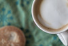 Circle (Pittypomm) Tags: 2018p52 week2 circle coffee welsh cake table cloth green mug cup white