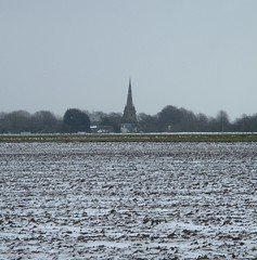 Sefton Church from Lunt Village (White Pass1) Tags: trees snow snowylandscape luntvillage seftonvillage sthelenschurch
