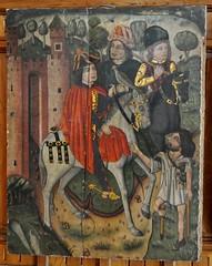 Astorga (León). Museo de los Caminos. Retablo de San Martín de Tours, siglo XV. San Martín reparte su capa con el mendigo (santi abella) Tags: astorga león castillayleón españa museodeloscaminos palacioepiscopaldeastorga