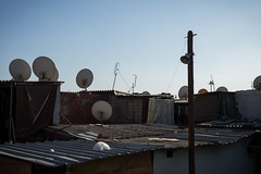 Antennas on steel sheet roofs - Morocco. by Sven @ Let me shoot for you - /// Web /// Prints ///