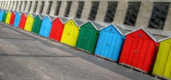 Boscombe Beach Huts (mclean25) Tags: boscombe bournemouth dorset beach huts colours colourful color buildings architecture seaside coast holiday lines angles