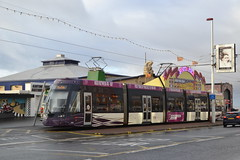 Blackpool Transport Flexity 2 008 (Will Swain) Tags: blackpool 7th october 2017 lancs lancaster north west coast coastal tram trams light rail railway rails transport travel europe tramway flexity 2 008 8