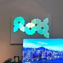 Art on the wall #Nanoleaf #digital #light