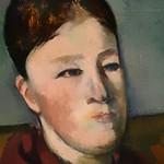 CEZANNE,1888-90 - Madame Cézanne au Fauteuil jaune (2) (Chicago) - Detail 12 thumbnail