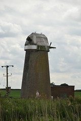 Neave's Drainage Mill (Worthing Wanderer) Tags: norfolk summer sunny cloudy farmland ludham howhill windmill august