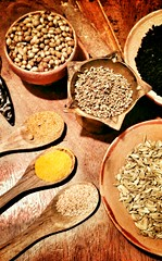 Spices II (kkundu) Tags: indian spices hot culture ethnic food taste edible spicy aroma fragrance aromatic brown ochre chrome