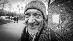 "#204 ""What the hell are you doing on this planet?"" (Hendrik Lohmann) Tags: streetphotography street streetportrait portraits people project whatthehell hendriklohmann duesseldorf nikondf blackandwhite"