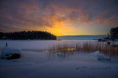 Winter sunset (Jyrki Salmi) Tags: jyrki salmi vanhaniemi pyhtää finland winter evening sunset ice snow