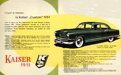 Kaiser Custom (1951) (andreboeni) Tags: classic car automobile cars automobiles voitures autos automobili classique voiture rétro retro auto oldtimer klassik classica classico publicity advert advertising advertisement illustration kaiser custom manhattan
