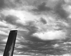 Aberrant (javitm99) Tags: aberrant aberrante diagonal pelli seville sevilla spain españa sky cielo bn b n w blanco negro gris black white grey architecture arquitectura archi modern moderno
