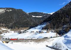 RoLa, Sankt Jodok, 9 Feb 2018 (Mr Joseph Bloggs) Tags: taurus 1016 obb austria brennero brenner worgl 53446 rola train treno bahn railway railroad snow freight cargo merci